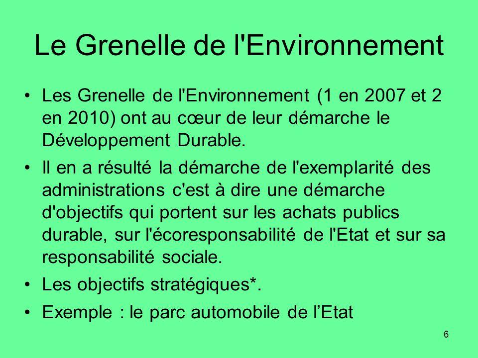 Le Grenelle de l Environnement