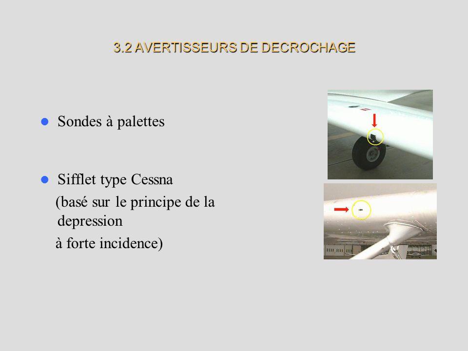 3.2 AVERTISSEURS DE DECROCHAGE