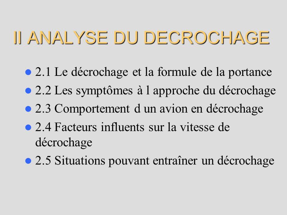 II ANALYSE DU DECROCHAGE