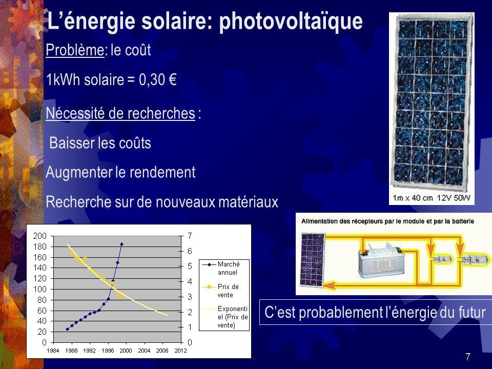 L'énergie solaire: photovoltaïque