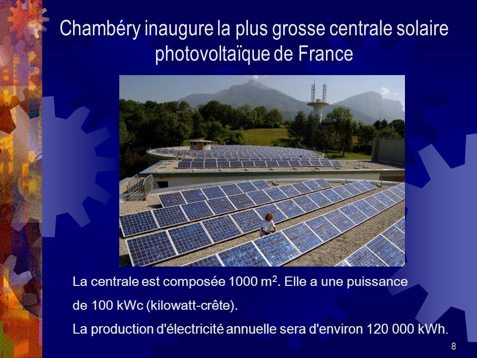 Chambéry inaugure la plus grosse centrale solaire photovoltaïque de France