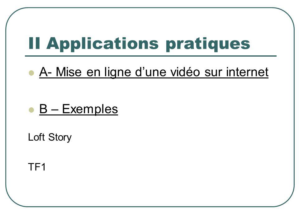 II Applications pratiques