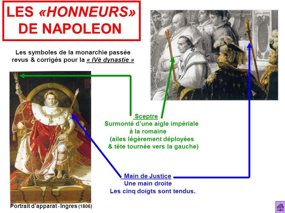 LES «HONNEURS» DE NAPOLEON Les symboles de la monarchie passée