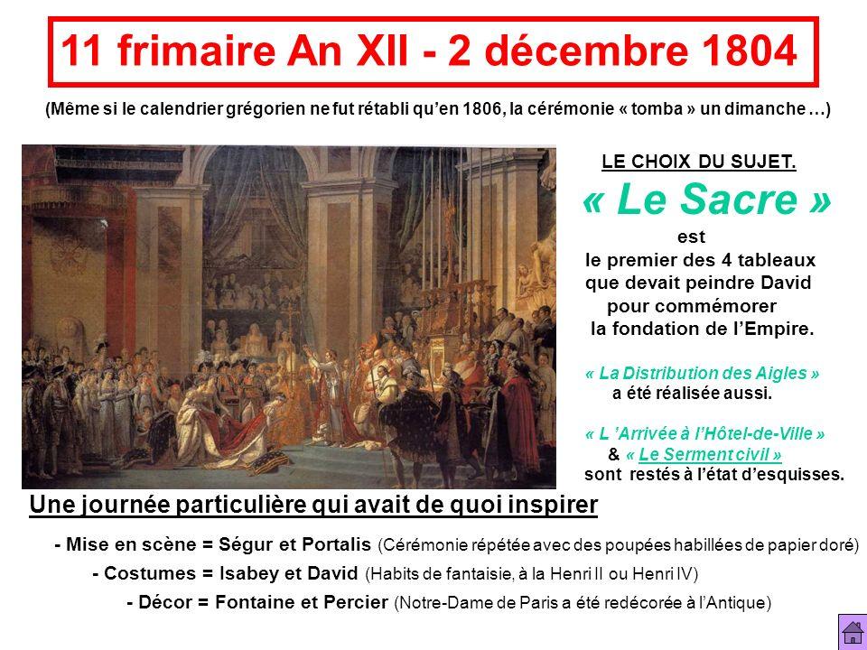 11 frimaire An XII - 2 décembre 1804