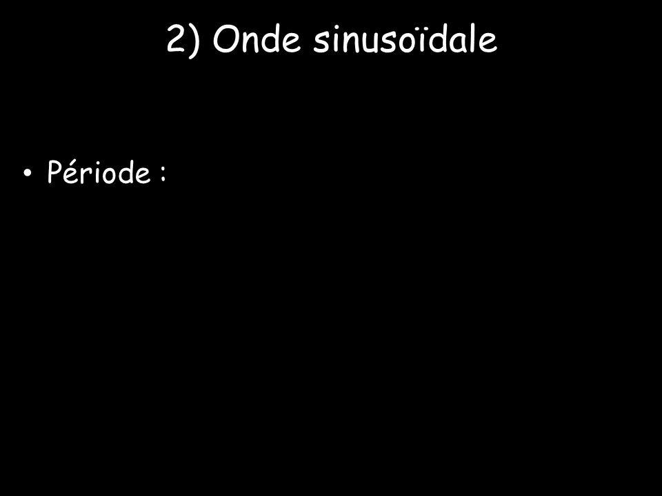 2) Onde sinusoïdale Période :