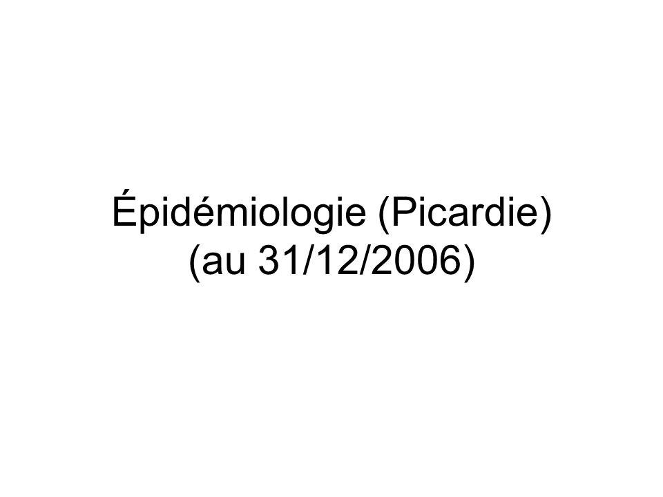 Épidémiologie (Picardie) (au 31/12/2006)