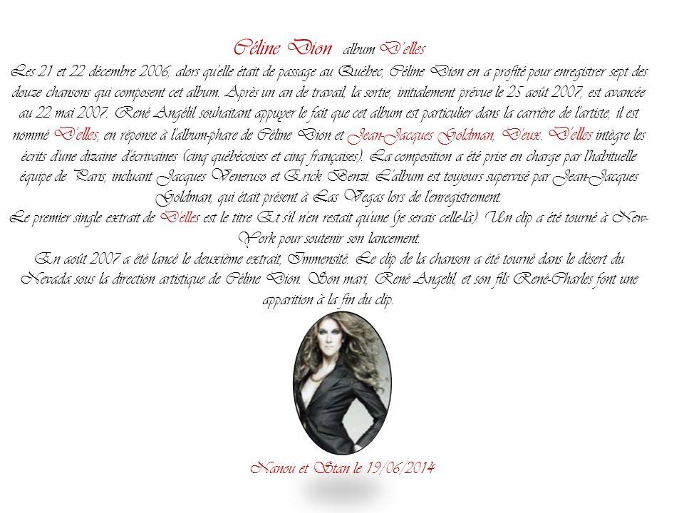 Céline Dion album D'elles