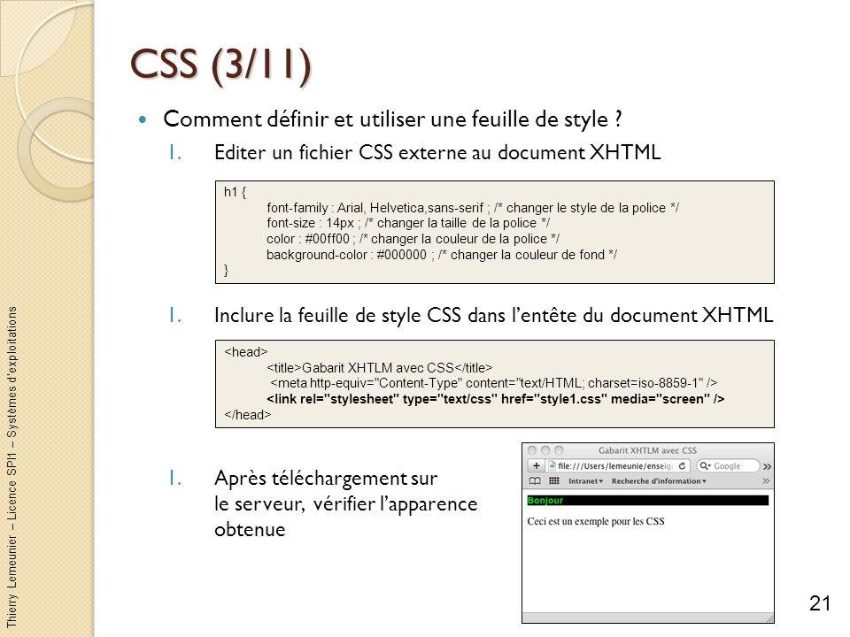 CSS (3/11) Comment définir et utiliser une feuille de style