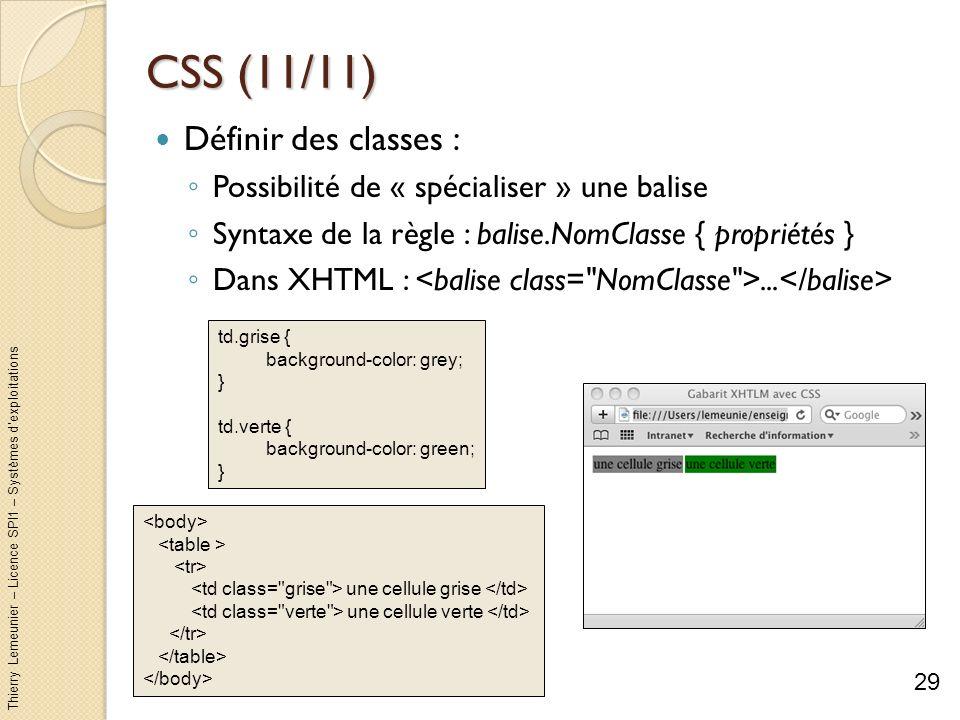 CSS (11/11) Définir des classes :