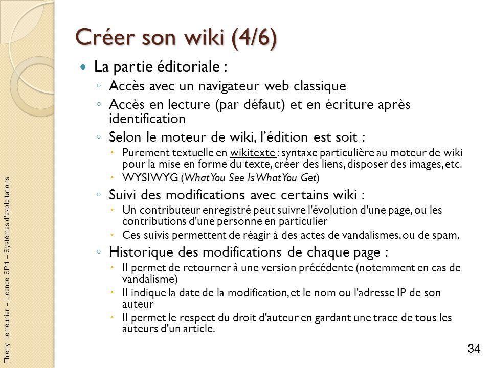 Créer son wiki (4/6) La partie éditoriale :