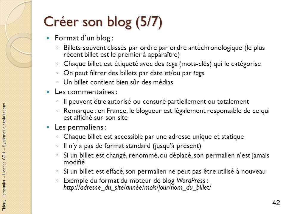 Créer son blog (5/7) Format d'un blog : Les commentaires :