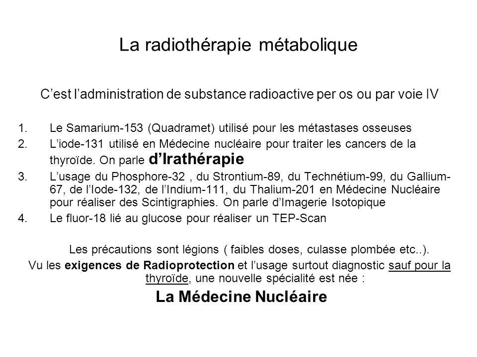 La radiothérapie métabolique