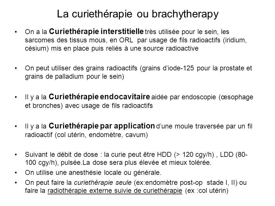 La curiethérapie ou brachytherapy