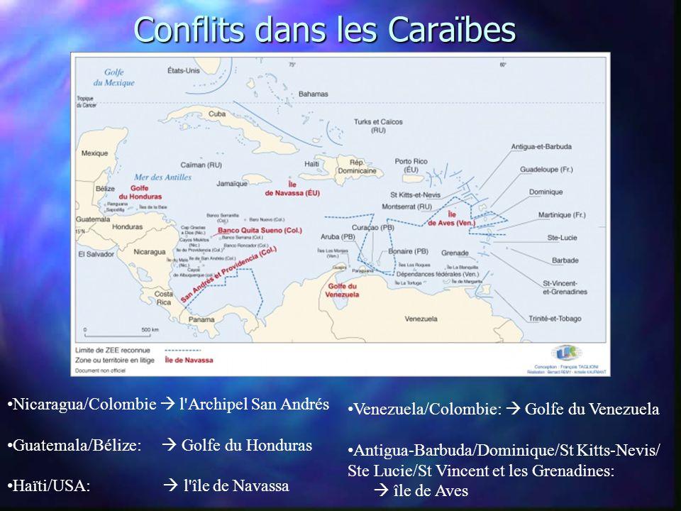 Conflits dans les Caraïbes