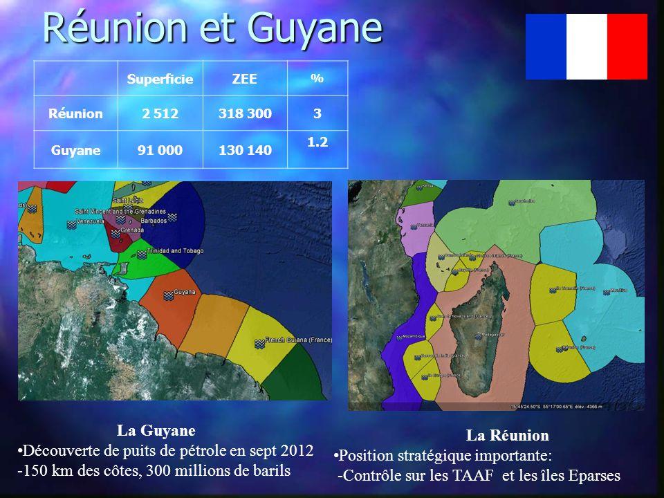 Réunion et Guyane La Guyane La Réunion