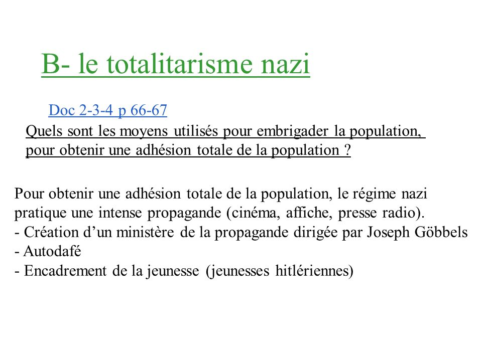 B- le totalitarisme nazi