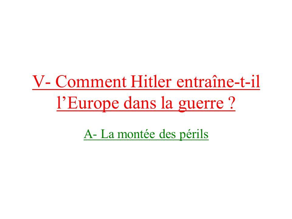 V- Comment Hitler entraîne-t-il l'Europe dans la guerre