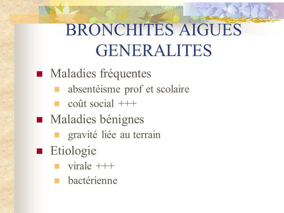 BRONCHITES AIGUES GENERALITES