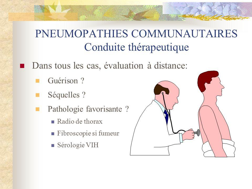 PNEUMOPATHIES COMMUNAUTAIRES Conduite thérapeutique