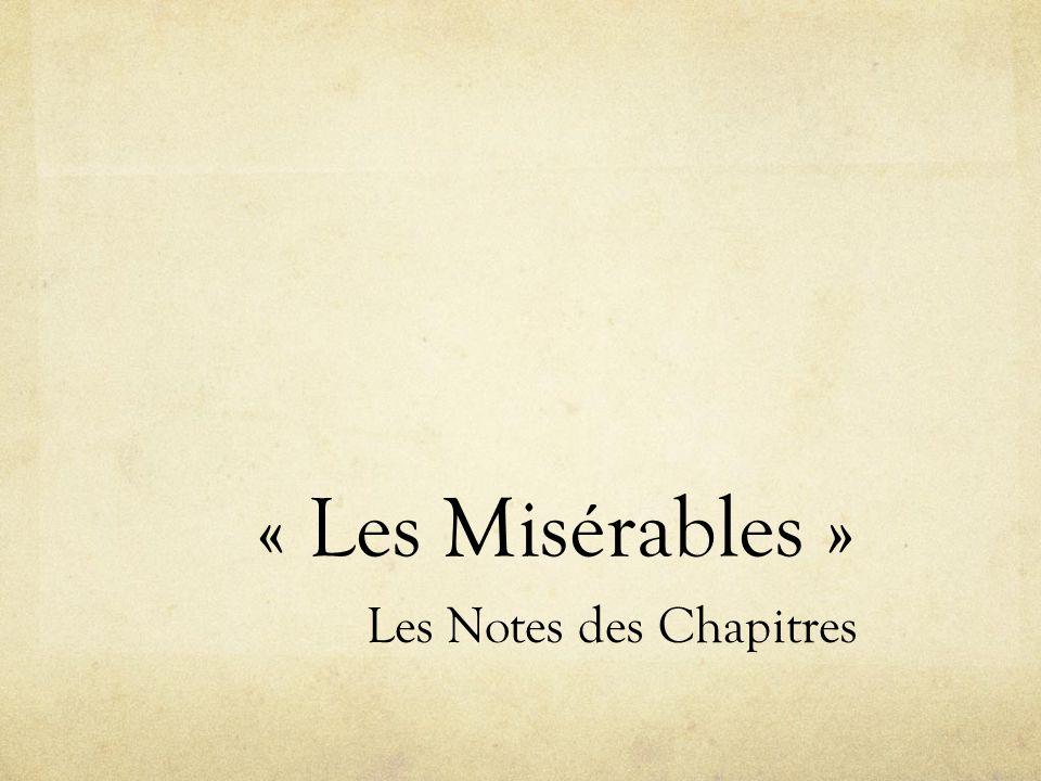 Les Notes des Chapitres