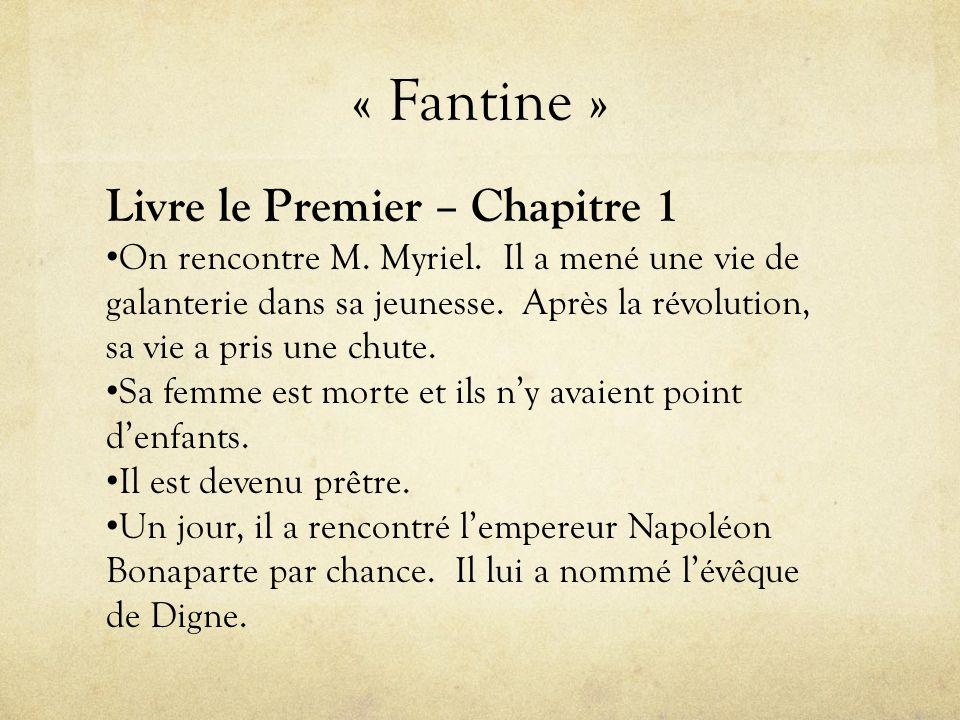 « Fantine » Livre le Premier – Chapitre 1