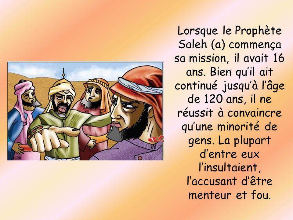 Lorsque le Prophète Saleh (a) commença sa mission, il avait 16 ans