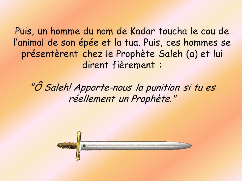 Ô Saleh! Apporte-nous la punition si tu es réellement un Prophète.