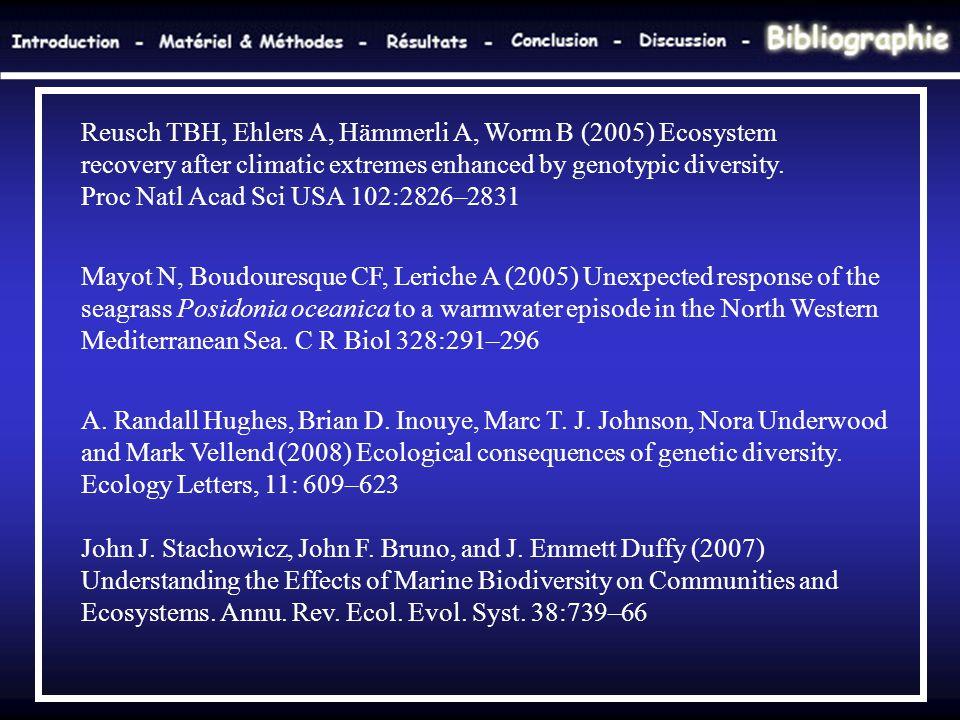 Reusch TBH, Ehlers A, Hämmerli A, Worm B (2005) Ecosystem