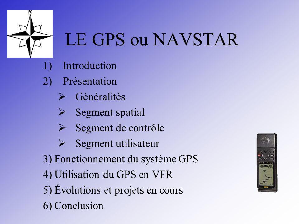 LE GPS ou NAVSTAR Introduction Présentation Généralités