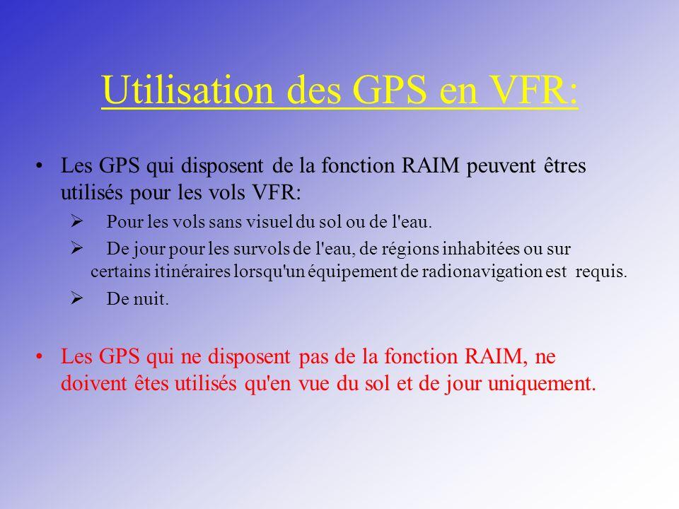 Utilisation des GPS en VFR: