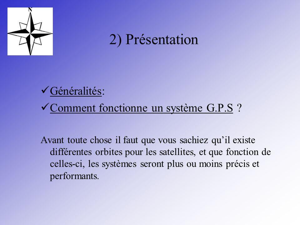 2) Présentation Généralités: Comment fonctionne un système G.P.S