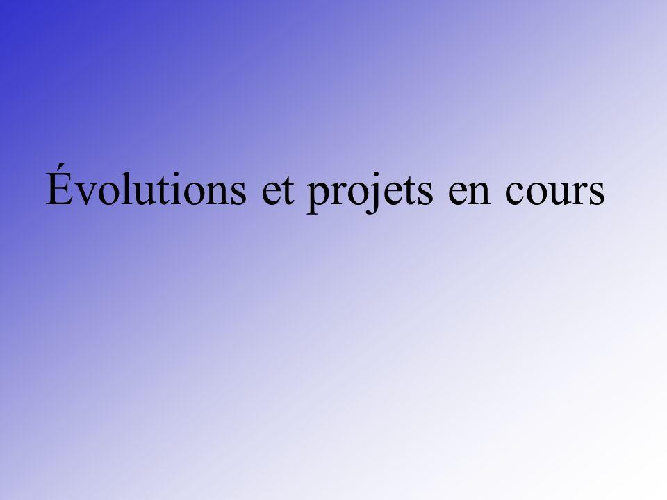 Évolutions et projets en cours