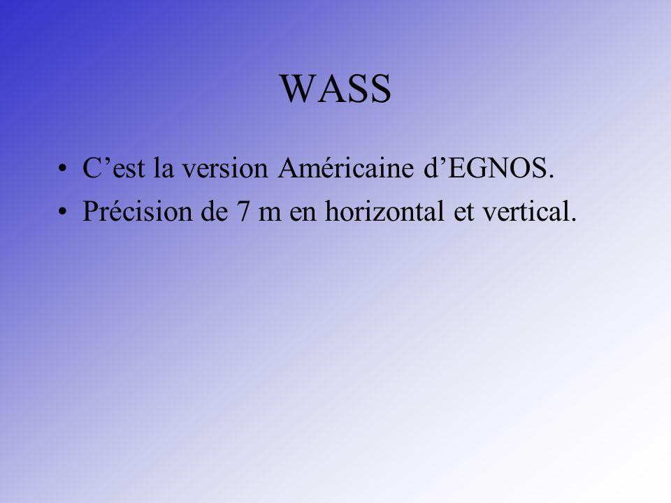 WASS C'est la version Américaine d'EGNOS.