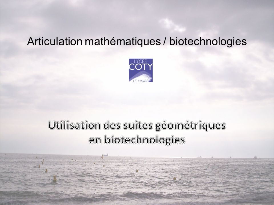 Articulation mathématiques / biotechnologies