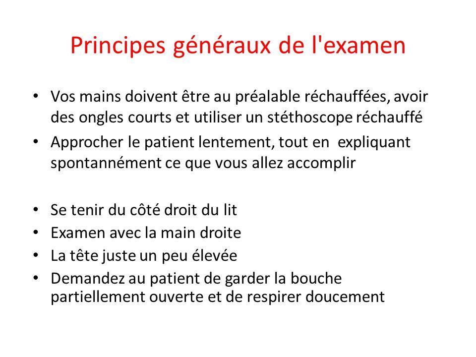 Principes généraux de l examen