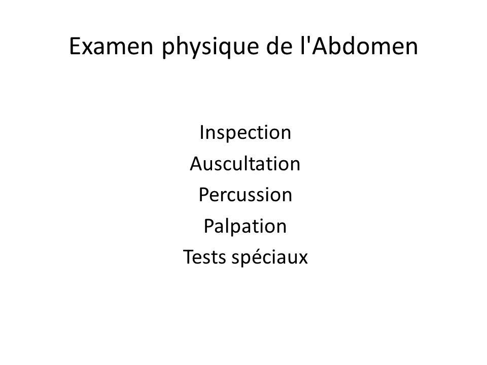Examen physique de l Abdomen