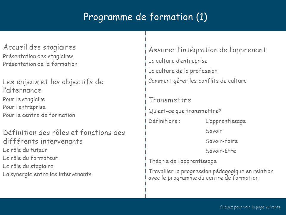 Programme de formation (1)