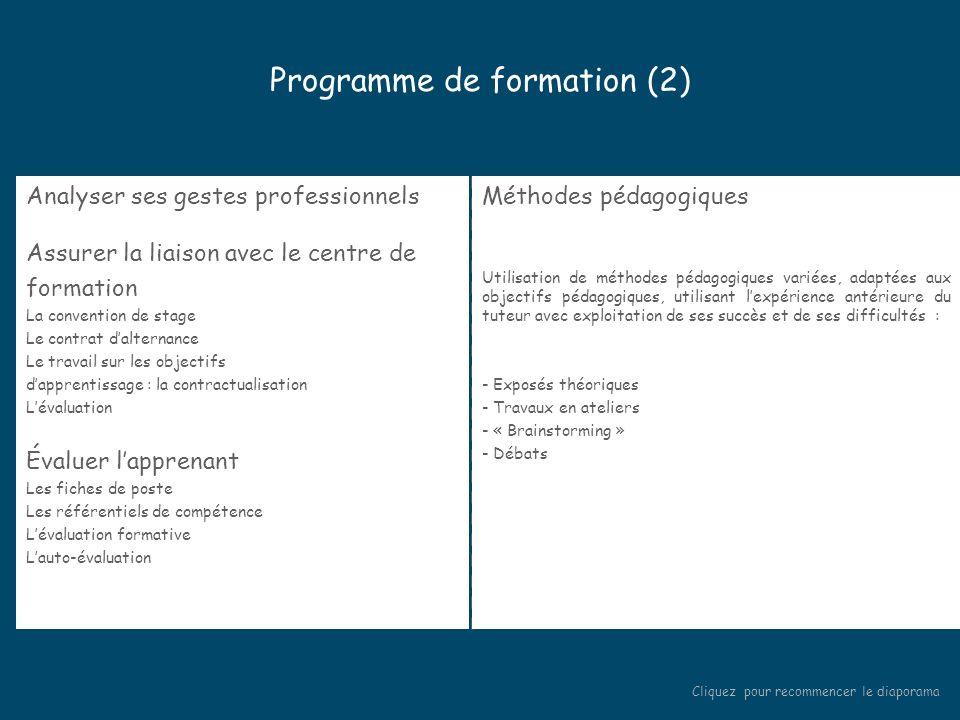 Programme de formation (2)