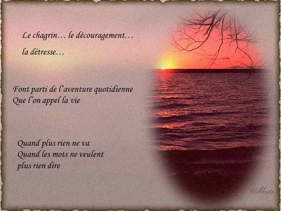 Le chagrin… le découragement…