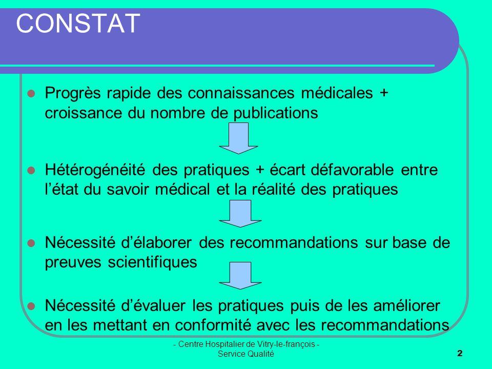 - Centre Hospitalier de Vitry-le-françois - Service Qualité