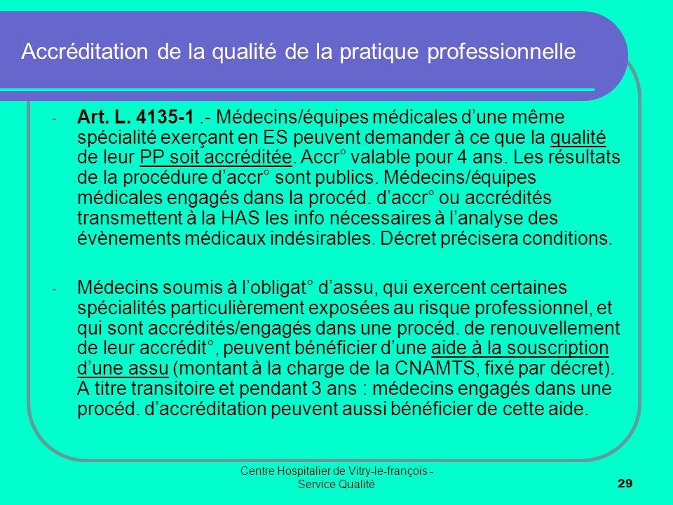 Accréditation de la qualité de la pratique professionnelle