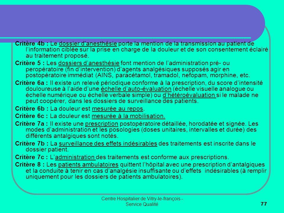 Centre Hospitalier de Vitry-le-françois - Service Qualité