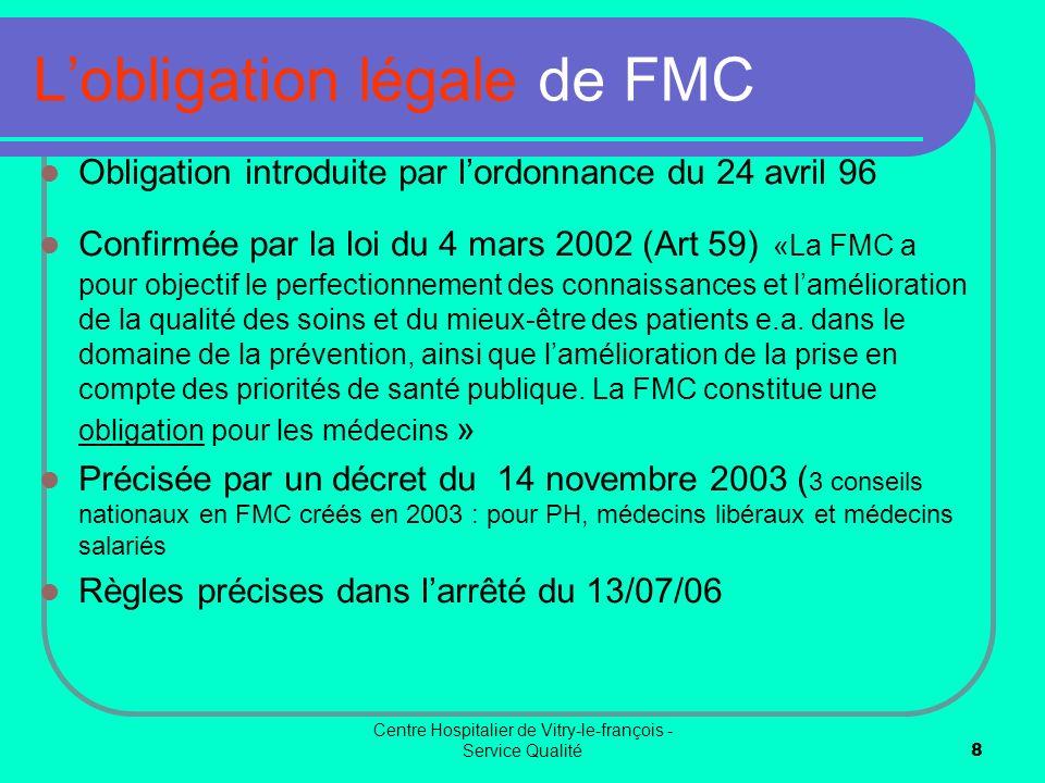 L'obligation légale de FMC