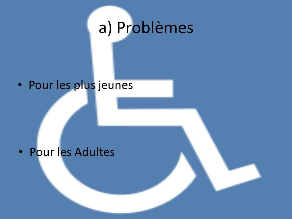 a) Problèmes Pour les plus jeunes Pour les Adultes