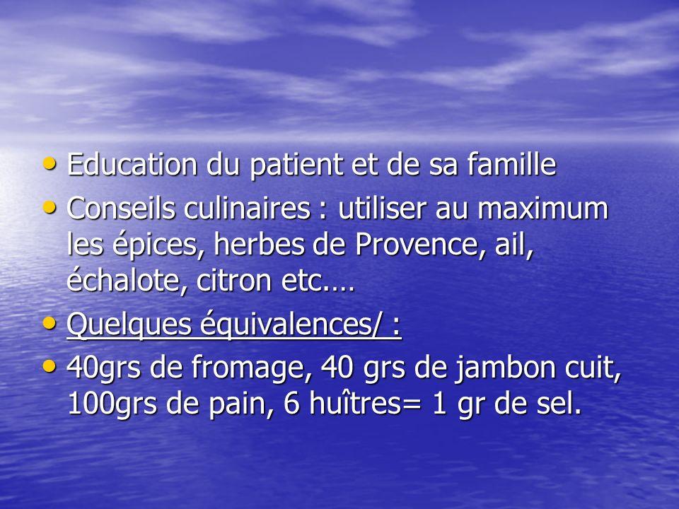 Education du patient et de sa famille