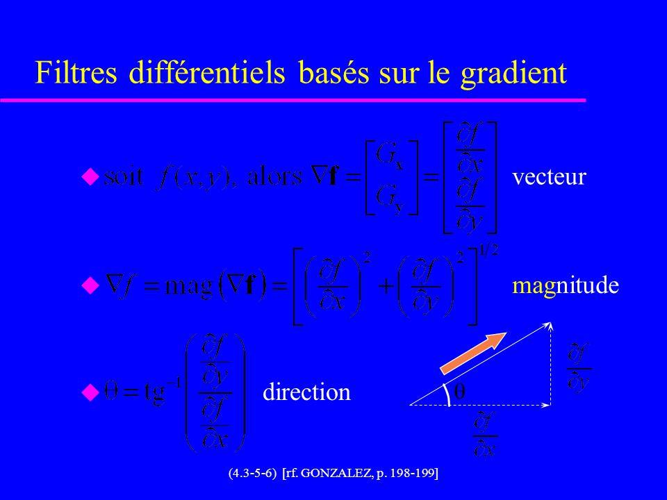 Filtres différentiels basés sur le gradient