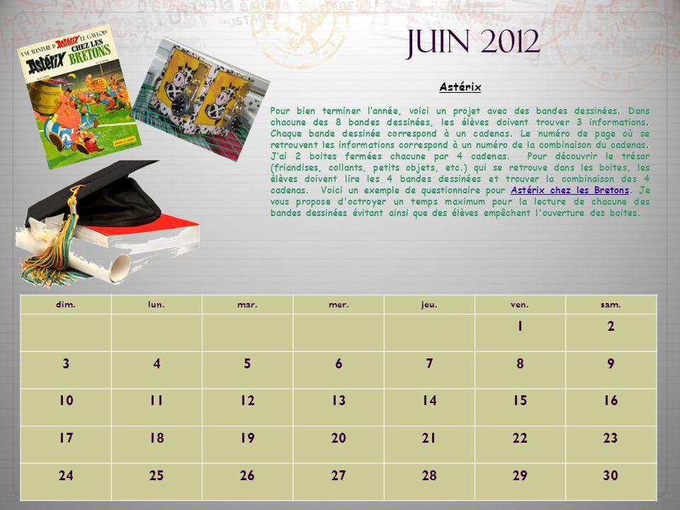 Juin 2012 Astérix.