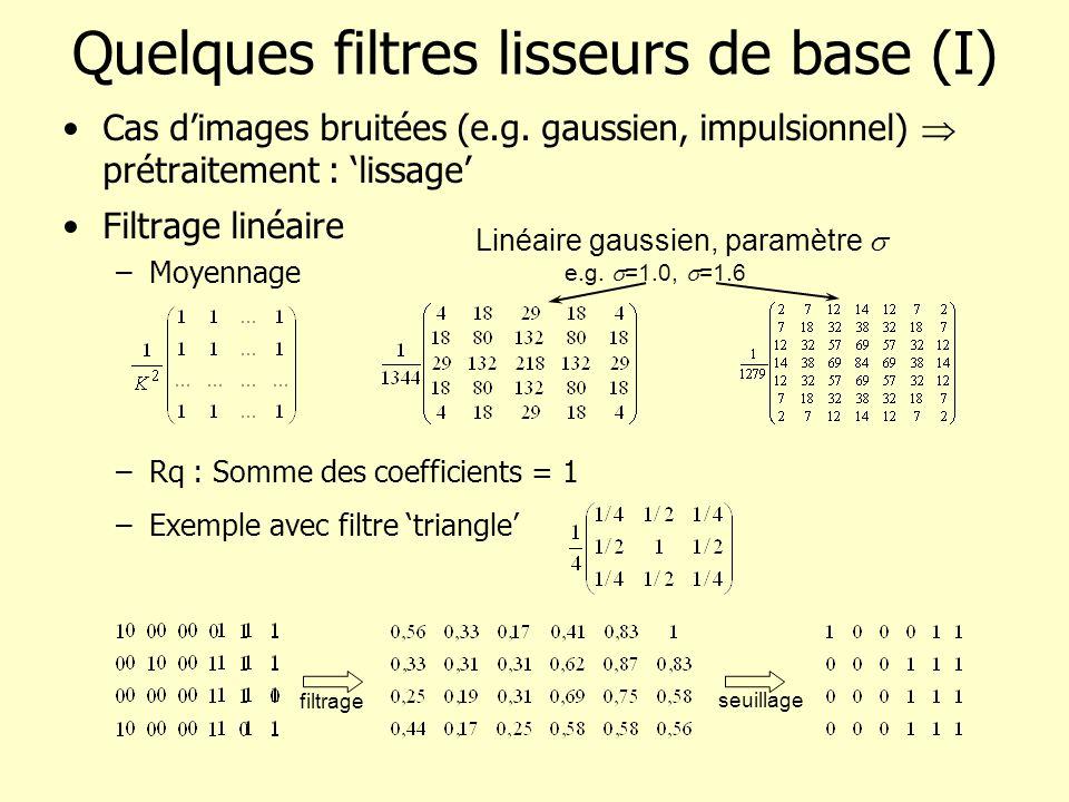 Quelques filtres lisseurs de base (I)