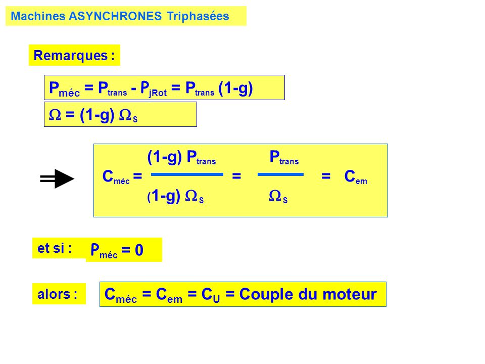 Pméc = Ptrans - PjRot = Ptrans (1-g)