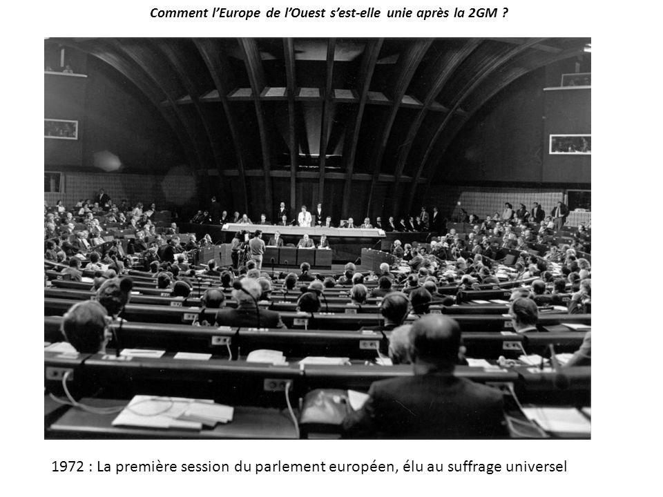 Comment l'Europe de l'Ouest s'est-elle unie après la 2GM